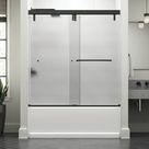 Delta Simplicity 60 In. X 71-1/2 In. Mod Semi-Frameless Sliding Shower Door In Bronze & 3/8 In. (10Mm) Clear Glass Tempered Glass in Brown | Wayfair