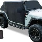 Yoursme Cab Cover 82215370 Car Cover Protection for 2007-2020 Jeep Wrangler JL JK 4 Door & Hard top Off - Cab Cover