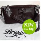 Brighton Bags   Retired Nwt Brighton Willow Chocolate Shoulder Bag   Color Brown/Silver   Size Shoulder Bag