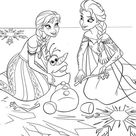 Printesa Anna, Olaf si Elsa