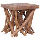 vidaXL Log Coffee Table 40x40x40 cm Solid Wood