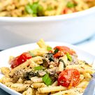 Baked Goat Cheese Pasta Recipe - Rich And Delish