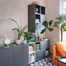 Flexibles Wohnzimmer mit Sofakombination