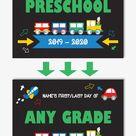 Printable First Day of Preschool Sign, Editable Back to School Sign, Digital Chalkboard Sign, Transp