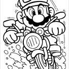 Super Mario Brothers fun coloring page