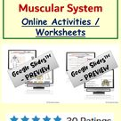 Online Worksheets on Skeletal System Muscular System of Human Body Activities for Google ClassroomTM