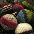 Knitted and Felted Ornaments and Garland pattern by Leigh Radford