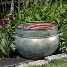 Sonoma Hose Pot - Blue Verde Brass by Good Directions
