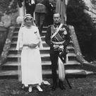 Ex - Kaiser s nephew married. The wedding took place at Schloss Salum, near the Bodensee. Box Canvas Print. Ex - Kaiser s nephew married. <br> The.