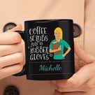 Make Your Own Custom Nurse Coffee Mug - 11 ounce / Black