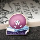 Page Puff Wooden Pin    Pygmy Puff    Eco Friendly    pin badge    Cute    Bibliophile    Fantasy Creatures