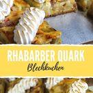 Rhabarber Quark Blechkuchen