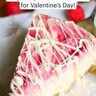 Make this White Chocolate Raspberry Swirl Cheesecake for Valentine's Day!