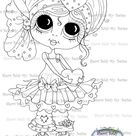 INSTANT DOWNLOAD Digital Digi Stamps Big Eye Big Head Dolls Digi  My - Besties  IMG157 2 By Sherri Baldy