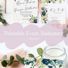 DIGITAL EVENT BUNDLE: Navy and Pink Event Stationary 11-piece Digital Download