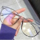 Anti Blue Light Glasses Transparent, Vintage, eyeglasses, blue light glasses, light, blue, reading , frames, clear frame, round, accessories