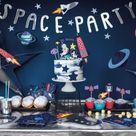 Weltraum Partybox bunt