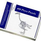 Jigsaw Puzzle. anatomy, animal themes, bird, coracoid, cranium, cut out, femur, humerous, mandible