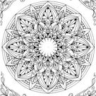 Mandala  Printable Adult Coloring Page from Favoreads   Etsy