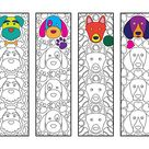 Sweets Bookmarks - PDF Coloring Page - Popsicle, Donut, Cupcake, Candy