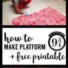 DIY Harry Potter Platform 9 3/4 - Paper Trail Design