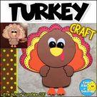 TURKEY Craft for Thanksgiving & November