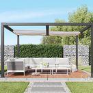 solidCUBE freistehende Pergola / Pavillon mit Beschattungssystem