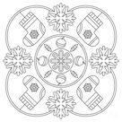 Mandala Noël : 30+ idées gratuites à imprimer pour petits et grands!