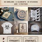 Baseball emblems bundle (174788)   Logos   Design Bundles