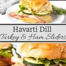 Havarti Dill Turkey and Ham Sliders