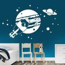 Wandtattoo Planeten im Weltraum | WANDTATTOO.DE