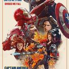 Captain America Civil war Retro Fanmade Poster by punmagneto on DeviantArt