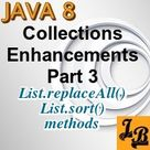 Java 8 - List.sort, List.replaceAll methods tutorial with examples
