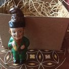 New 3D Mini Irish Leprechaun St. Patrick's Day Ornament w Pipe n Bag O' Gold 2 3/4