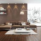 14 Wohnzimmer Ideen Braun Beige