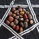 JASPER, RED Stone Gemstone Tumbled 4 oz Wiccan Pagan Metaphysical Reiki Chakra Supply