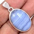 Blue Lace Agate Pendant   blue lace agate stone   blue lace agate necklace   blue lace agate jewelry   throat chakra   sterling silver 1250