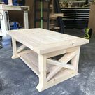 DIY 8 Board Farmhouse Coffee Table