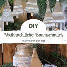 Weihnachtlicher DIY Baumschmuck im Vintagelook - Tischlein deck dich