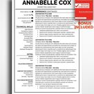 Professional Resume Template Annabelle Cox