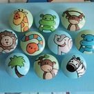 Animal Drawer Pulls / Dresser Knobs and Pulls Hand Painted for Boys, Girls, Kids (Blue/Green Background) Baby Boy Gifts Baby Shower Gift
