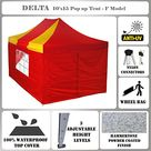 Delta 10'x15' Pop up 4 Wall Canopy Party Tent Gazebo Ez Red Yellow - F Model Upgraded Frame Canopies