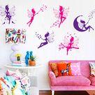 Six Magical Fairy Wall Decal Sticker