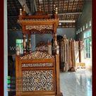 Mimbar Masjid Karanganyar Model Atap Kubah Jepara   Bawu Furniture