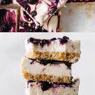 Lemon Blueberry Cheesecake Bars (vegan + gluten-free)