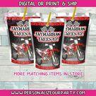motocross capri sun juice labels-dirt bike juice labels-digital-print-motocross party favors-motocross birthday-dirt bike party decor-juice