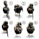 easy hairstyles for long hair updo quick