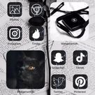 120 iOS 14 black marble app icons   iPhone   app covers   Home Screen   widgets   Etsy   sale