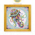 Mandala Jellyfish DS239, Diamond Painting DIY KIT | Pattern | Nature | Animal