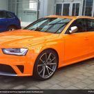On Location Papaya Orange Audi RS 4 at Audi Forum...